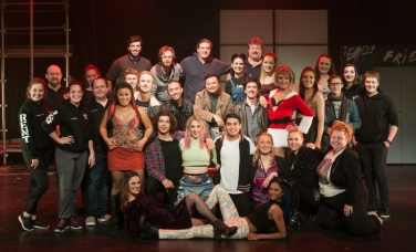The cast of Marie Clark Musical Theatre's production of RENT (2016)